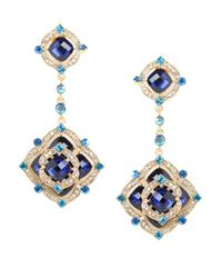 BaubleBar | Blue Azure Rose Clip-on Drops | Lyst