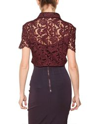 Burberry   Floral Lace Stretch Top   Lyst
