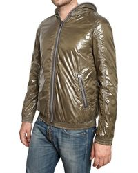 Duvetica | Green Shiny Nylon Foldable Alete Sport Jacket for Men | Lyst