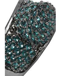 Eddie Borgo - Metallic Gunmetal Plated Pavé Crystal Cone Ring - Lyst
