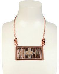 Hirschell - Pink Ci Pixel Double Cuivre Necklace - Lyst