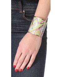 Noir Jewelry - Multicolor Pastel Hacienda Cuff - Lyst