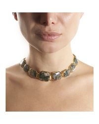 Olivia Collings | Gray Moss Agate Riviere Necklace Bracelet Set | Lyst