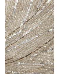 Paul & Joe - Metallic Floride Strapless Beaded Tulle Gown - Lyst