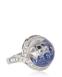 Royal Asscher - Blue Stars Of Africa Gold and Diamonds Ring - Lyst