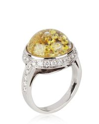 Royal Asscher - Orange Stars Of Africa Gold and Diamonds Ring - Lyst