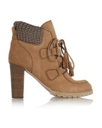 See By Chloé | Brown Misaki Nubuck Leather Ankle Boots | Lyst