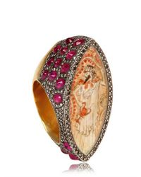 Sevan Biçakci | Metallic Diamonds and Rubies Gold Ring | Lyst