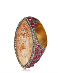 Sevan Biçakci - Metallic Diamonds and Rubies Gold Ring - Lyst