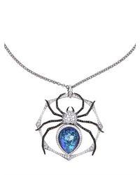 Stephen Webster | White Large Spider Pendant Necklace | Lyst