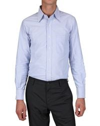 Thom Browne | Blue Oxford Cotton Shirt for Men | Lyst