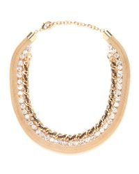 BaubleBar - Metallic Iced Gold Link Collar - Lyst