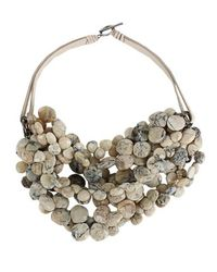 Brunello Cucinelli | Gray Brunello Cucinelli Necklace | Lyst