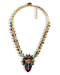 Erickson Beamon | Metallic Rainbow Iridescent Crystal Gold Plated Pendant Necklace | Lyst