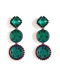 Erickson Beamon | Atlantis Iridescent Green Garden Party Earrings | Lyst