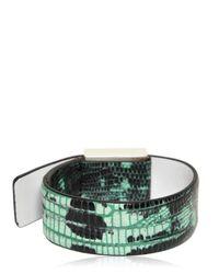 KENZO - Green Tejus Printed Leather Bracelet - Lyst