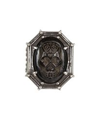 King Baby Studio | Black Jet Day Of The Dead Skull In Rivet Frame for Men | Lyst
