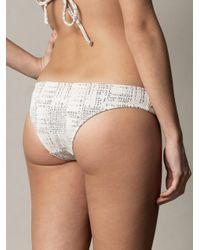 Made By Dawn - Black Shell Picker Bikini Briefs - Lyst