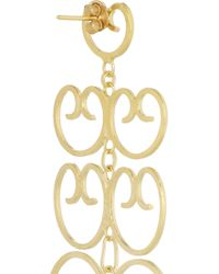 Mallarino - Metallic Mercedes Gold-plated Filigree Earrings - Lyst
