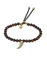 Michael Kors - Brown Tortoise Bead Bracelet - Lyst