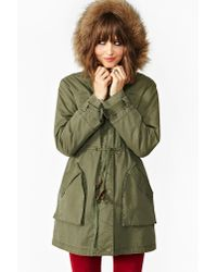 Nasty Gal | Green Downtown Parka | Lyst