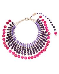 Rosantica | Purple Amethyst Orchidea Necklace | Lyst