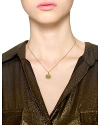 Sarah Chloe | Metallic Gold Eva Initial Necklace | Lyst