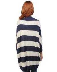 Splendid | Blue Cozy Rugby Stripe Cardigan | Lyst