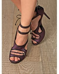 Tabitha Simmons Pink Bailey Printed Sandals