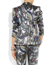 Theyskens' Theory - Multicolor Janta Printed Silk Satin Jacket - Lyst