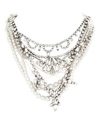 Tom Binns - Metallic Pearls in Peril Necklace - Lyst