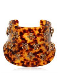Alexander McQueen | Brown Bees Swarovski Plexi Cuff Bracelet | Lyst