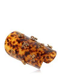 Alexander McQueen - Brown Bees Swarovski Plexi Cuff Bracelet - Lyst