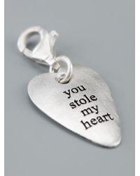 Bjorg - Metallic You Stole My Heart Charm - Lyst