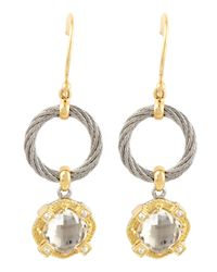 Charriol | Metallic White Topaz Drop Earrings | Lyst