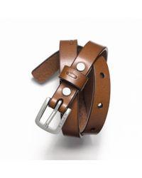 COACH - Brown Leather Bracelet for Men - Lyst