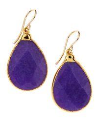 Devon Leigh | Purple Jade Teardrop Earrings | Lyst