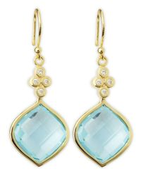 Elizabeth Showers | Green Simone Blue Topaz Earrings | Lyst