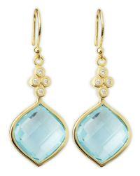Elizabeth Showers - Green Simone Blue Topaz Earrings - Lyst