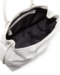 Gianfranco Ferré - White Medium Washed Leather Tote Bag - Lyst