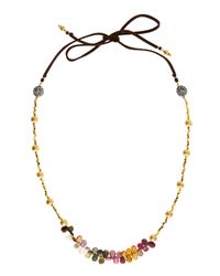 Indulgems | Multicolor Gold Nugget Necklace | Lyst