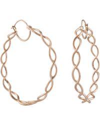 Irene Neuwirth - Metallic Rose Gold Braided Hoop Earrings - Lyst