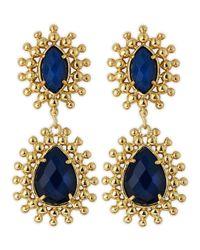 Kendra Scott - Blue Onyx Earrings - Lyst
