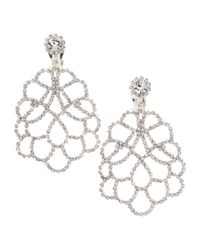 Kenneth Jay Lane | Metallic Pave Rhinestone Chandelier Clip Earrings | Lyst