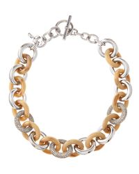 MICHAEL Michael Kors - Metallic Mixedlink Chain Necklace - Lyst