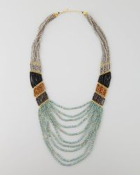 Nakamol | Multicolor Long Multistrand Beaded Necklace | Lyst