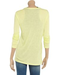 T By Alexander Wang - - Stretch-jersey Tank - Pastel Yellow - Lyst