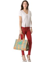 Tory Burch Green Ella Tote