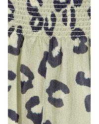 A.P.C. - Multicolor Leopard-print Woven Silk Dress - Lyst