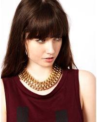 ASOS - Metallic Boxchain Choker Necklace - Lyst